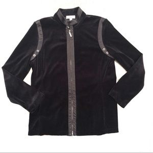 St. John Sport Velour Zip Jacket